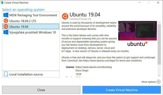 Ubuntu 1904 Hyperv