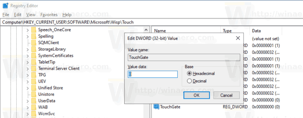 Windows 10 Disable Touch By Finger