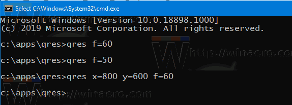 Change Display Resolution in Windows 10