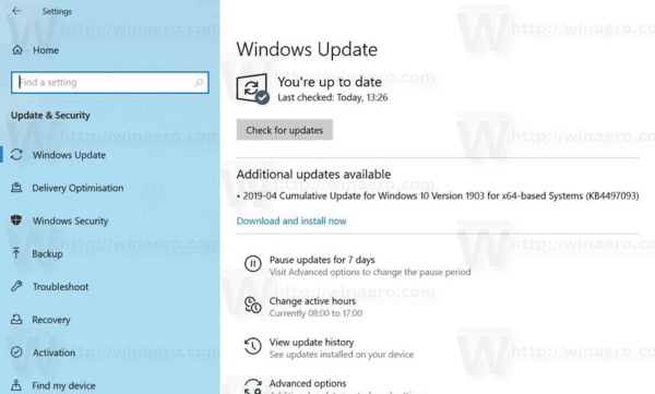 Windows 10 Update Download And Install Feature