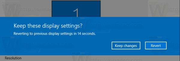 Change Display Resolution in Windows 10
