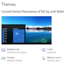 Panoramas of New Zealand theme for Windows 10, 8, and 7