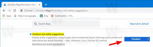 Disable Rich Search Suggestions Chrome