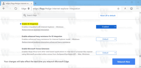 Microsoft Edge Enable IE Mode