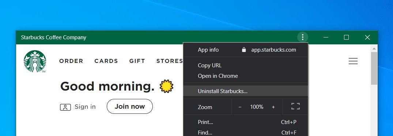 Uninstall PWA In Chrome
