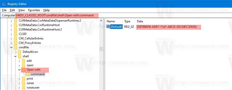 Windows 10 Add Open With Context Menu