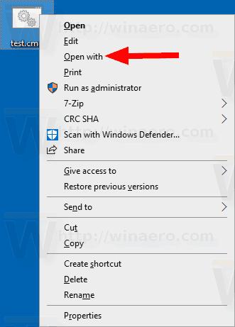 Windows 10 Cmd Open With Context Menu