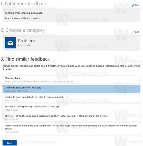 Windows 10 Feedback Hub Find Similar Feedback