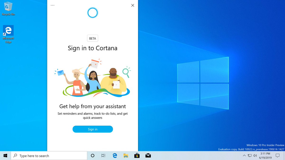 Windows 10 New Cortana 1