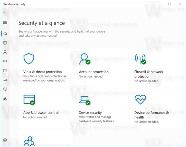 Disable Windows Defender in Windows 10 Version 1903