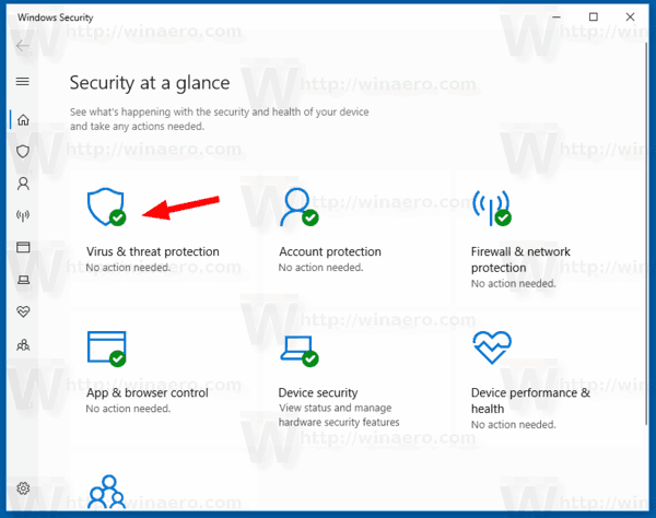 Windows 10 Windows Security Virus And Threat Protection