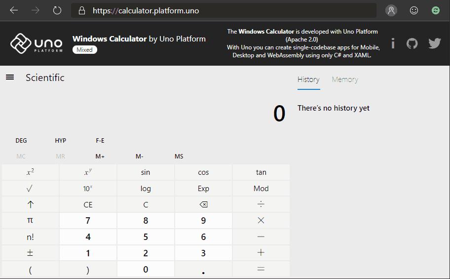 Windows Calculator On Web