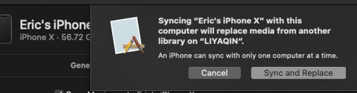 Sync And Replace Confirmation