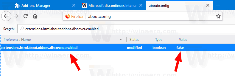 Firefox 68 Disable Extension Recommendations