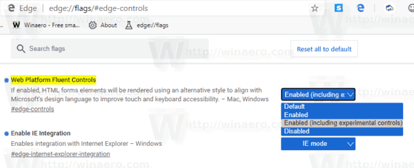Microsoft Edge Enable New Color Dialog