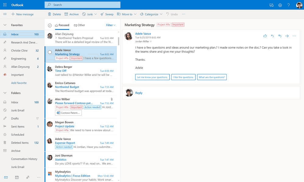 Outlook Email Calendar 2