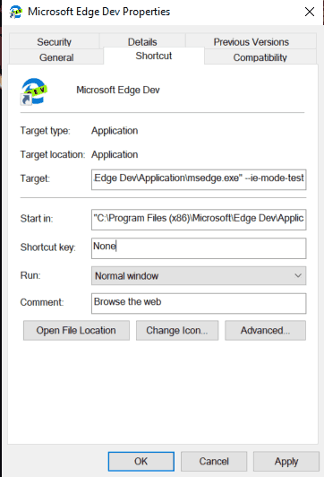 Re Enable IE Mode Edge Chromium