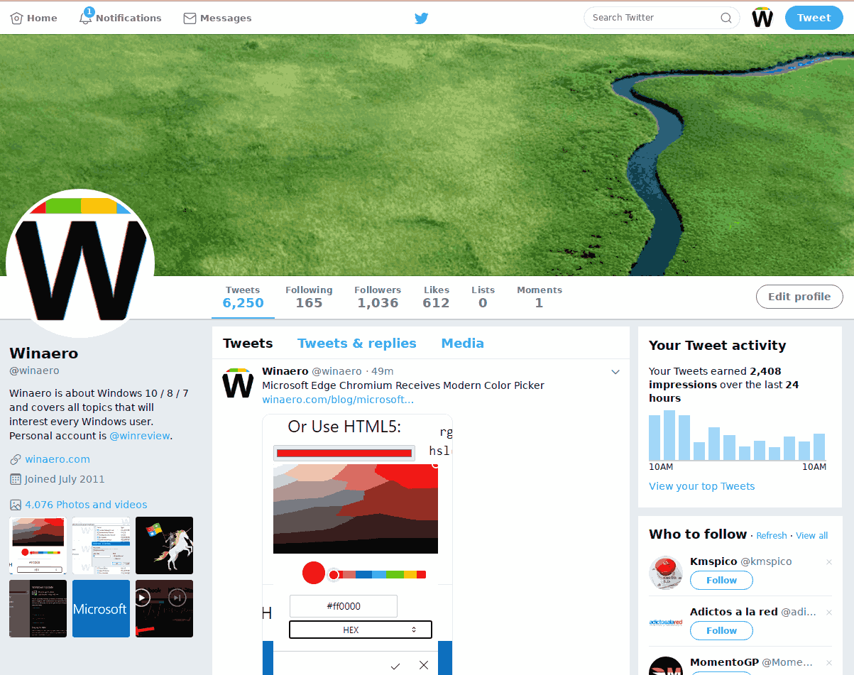 Twitter Old Design Restored