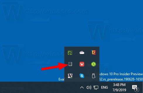 Windows 10 Task Manager Minimized To Tray