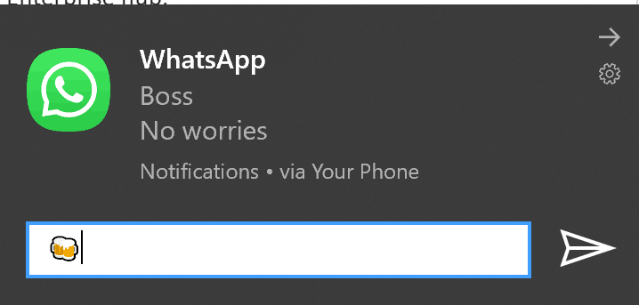 Windows 10 Your Phone Inline Replies