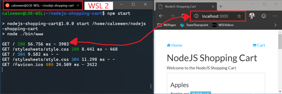 Windows Subsystem For Linux Localhost