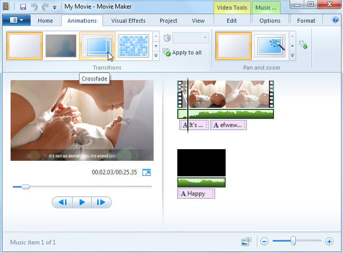 Windows Movie Maker Add Transition