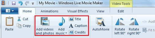 Windows Movie Maker Add Video