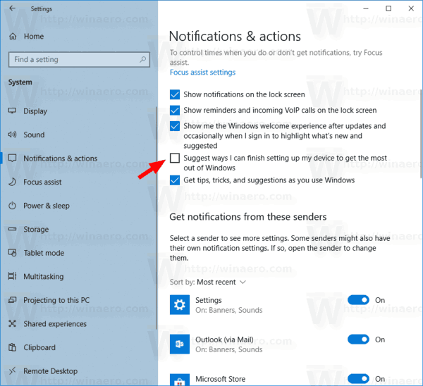 Disable Get Even More Out Of Windows