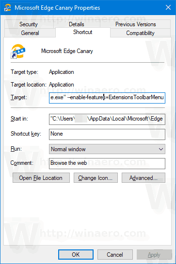 Edge Chromium Enable Extension Menu