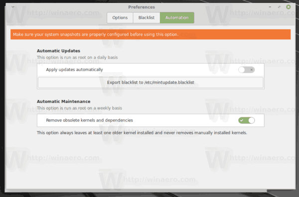 Linux Mint Autoremove Old Kernels Weekly