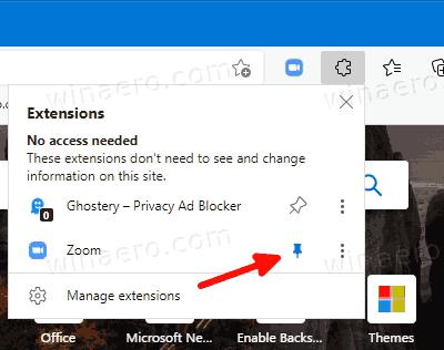 Microsoft Edge Add Extension Icon To Toolbar
