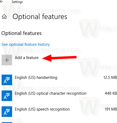 Windows 10 Add A Feature Button