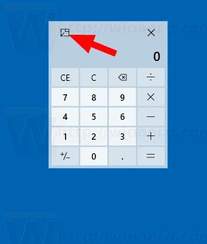 Windows 10 Calculator Disable Always On Top Mode