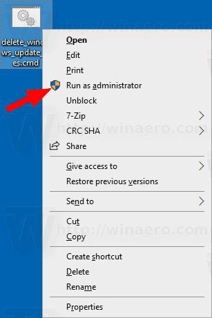 Windows 10 Delete Windows Update Files Batch File 2