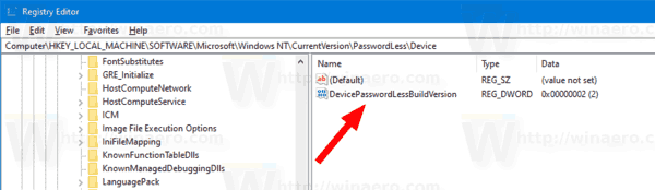 Windows 10 Enable Passwordless Sign In Tweak
