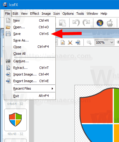 Windows 10 IcoFX save all icon sizes How To Register Dll File In Windows 10 64 Bit