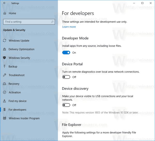 Windows 10 MSIX Sideloading