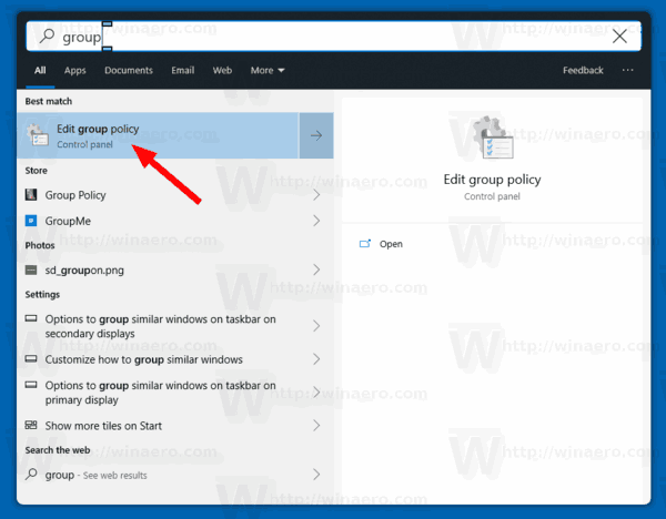 Windows 10 Open Group Policy