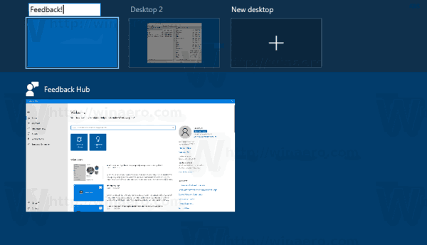 Windows 10 Rename Virtual Desktop