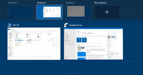 Windows 10 Task View Virtual Desktops