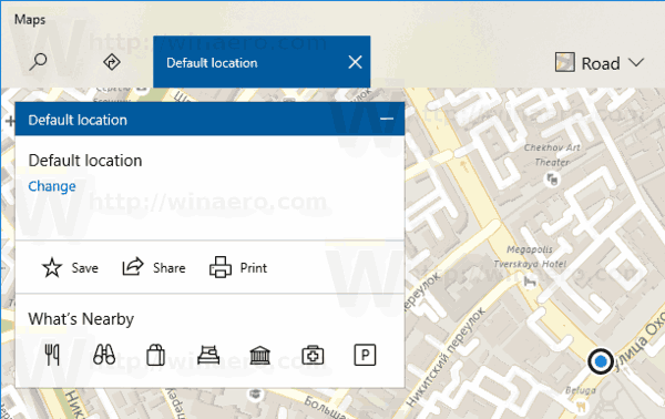 Windows 10 Default Location Is Set