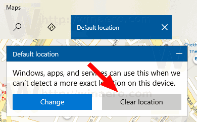 Windows 10 Remove Default Location