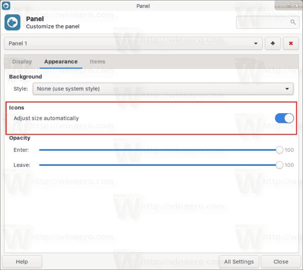 Xfce4 Panel Icons