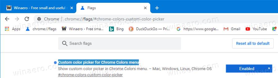 Chrome Enable Chrome Custom Color Picker