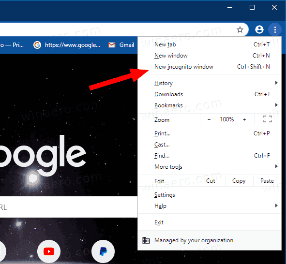 How to open incognito mode in chrome
