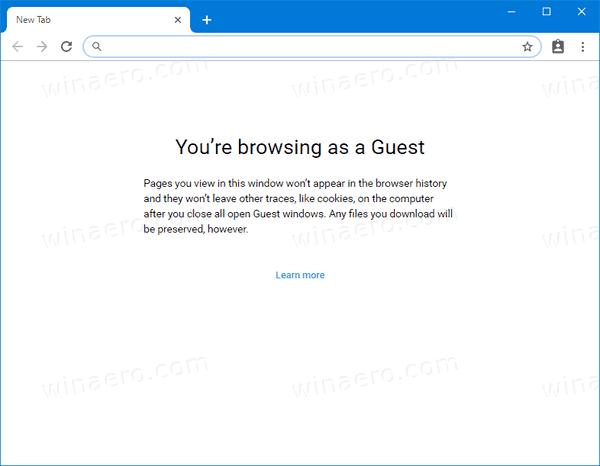 Google Chrome Running In Guest Mode