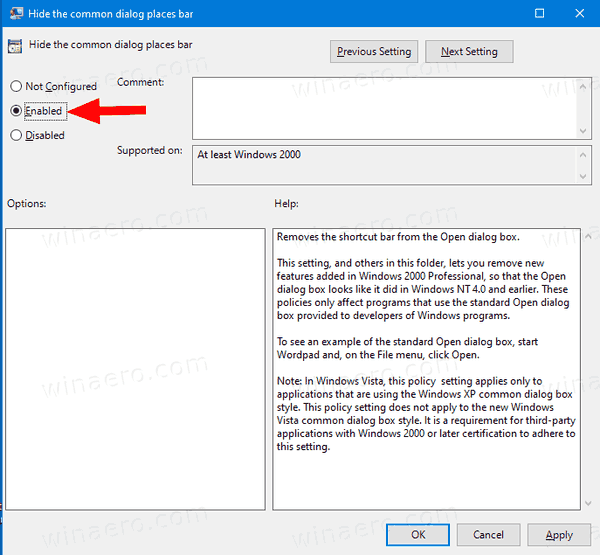Group Policy Places Bar 2