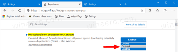 Microsoft Edge Enable The Block PUA Option Flag