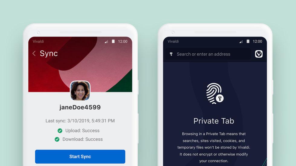 Vivaldi Android Private Tab