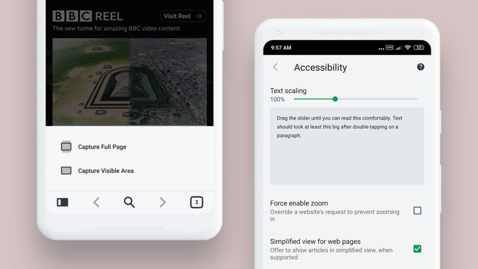 Vivaldi Android Reader View